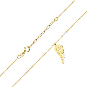 14K Gold Diamond Necklace RC0C-12 0,05CT