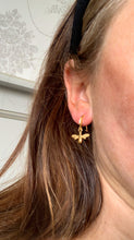 Load image into Gallery viewer, Honey bee Drop Earrings