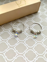 Load image into Gallery viewer, Silver 925 Hoop Earrings with Crystal AB DROP