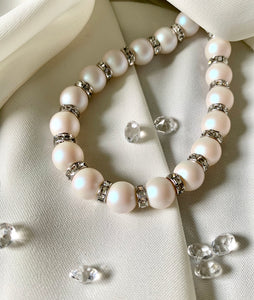Pearl Bracelet with Swarovski Crystal Pearls