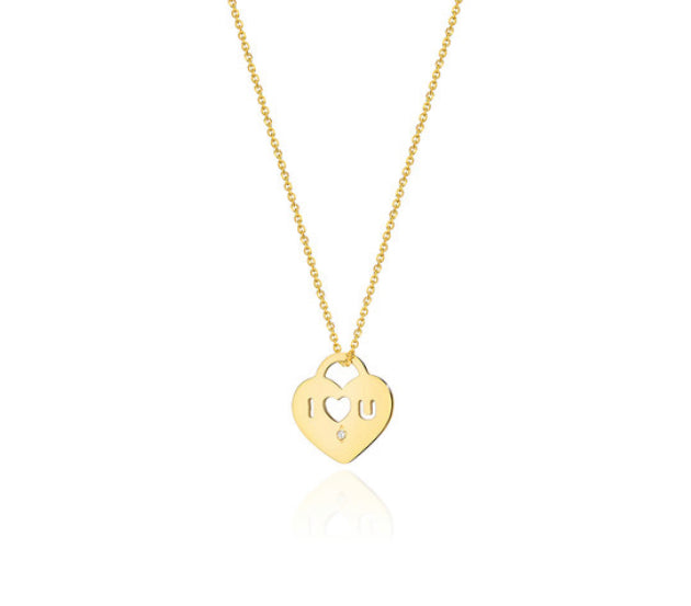 14K Gold Diamond Necklace RCC-11 0,05CT