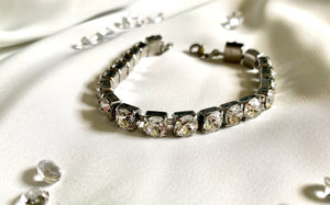 Tennis Bracelet with Swarovski Crystals