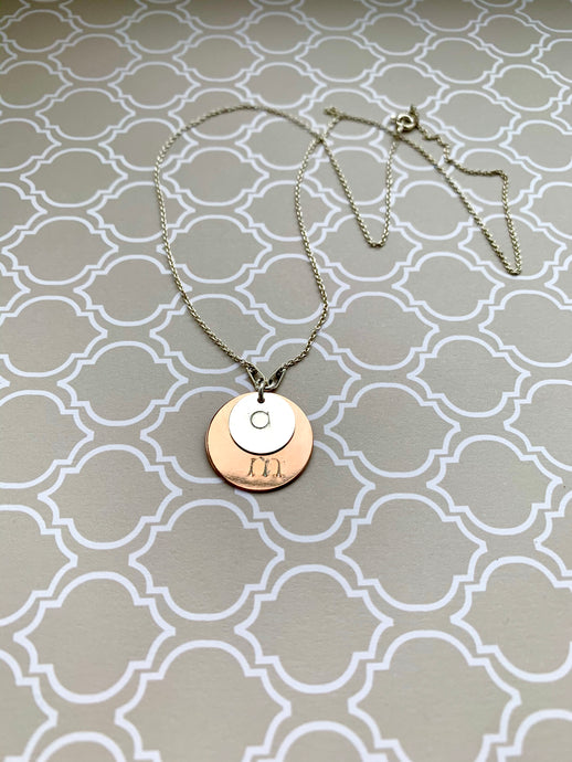 18K Rose Gold Plated Sterling Silver Customised Necklace