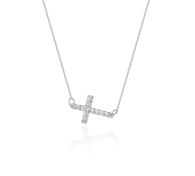 14K Gold Diamond Necklace RC0C-6 0,06CT