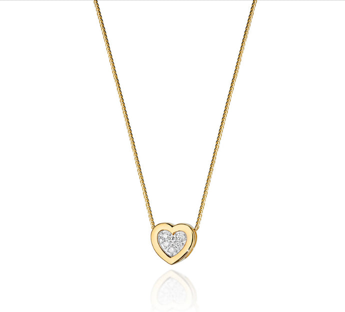 14K Gold Diamond Necklace RC0C-18 0,07CT