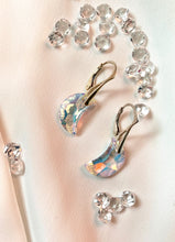Load image into Gallery viewer, Moon Dangle Earrings with Swarovski Crystals