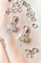 Load image into Gallery viewer, One Cube Dangle Earrings with Swarovski Crystals