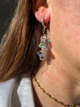 Load image into Gallery viewer, Aurora Borealis Grape Silver Earrings