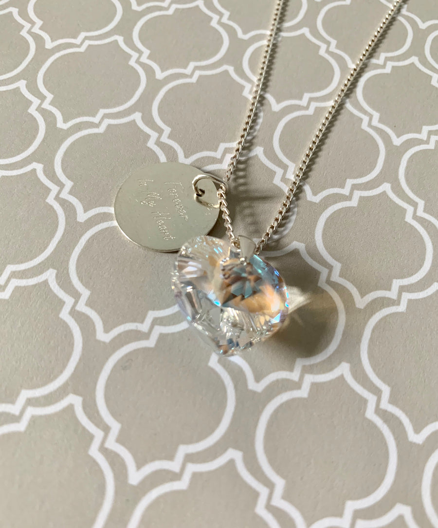 Forever in my Heart Silver 925  Necklace