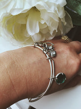 Load image into Gallery viewer, 4Charms Silver Tone Mother Bangle