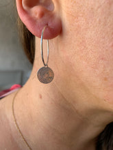 Load image into Gallery viewer, Sterling Silver  Liberty Disc Hoop Earrings