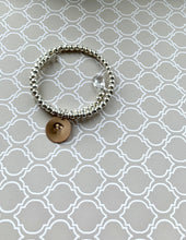 Load image into Gallery viewer, Silver Bracelet and 1 Initial with Swarovski Crystals