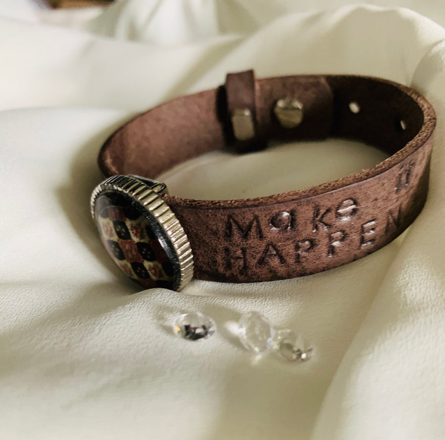 Customized Leather Boho Bracelet