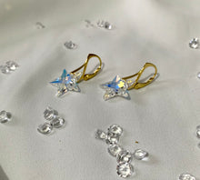Load image into Gallery viewer, Aurora Borealis Star 24K Gold Plated Sterling Silver Earrings