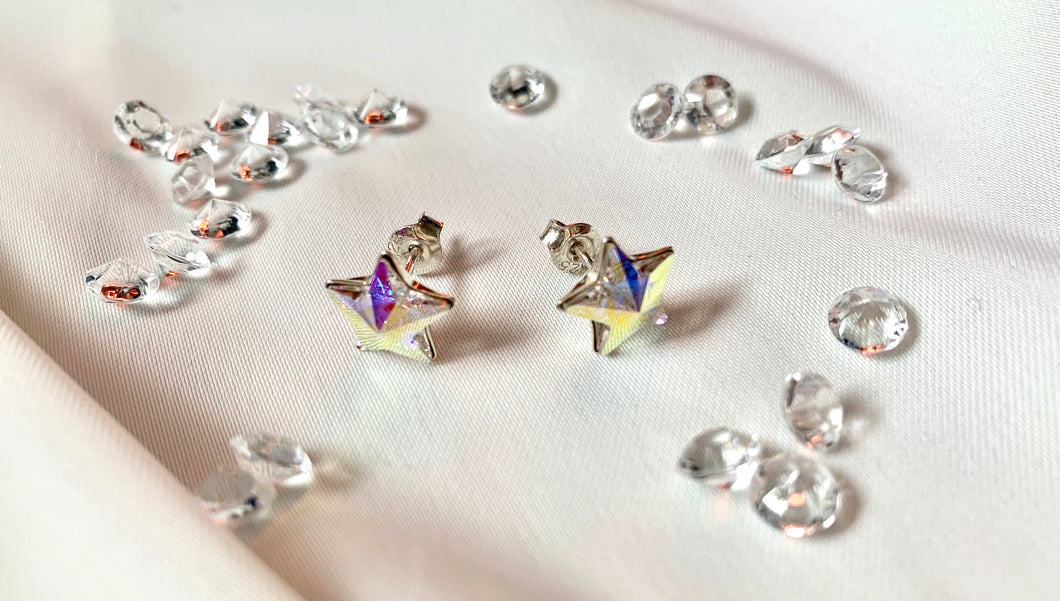 Aurora Borealis Star Stud Earrings