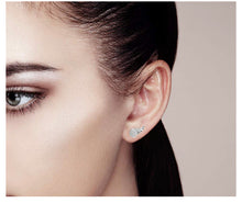 Load image into Gallery viewer, Minimalistic Disco Ball Wing Stud Earrings
