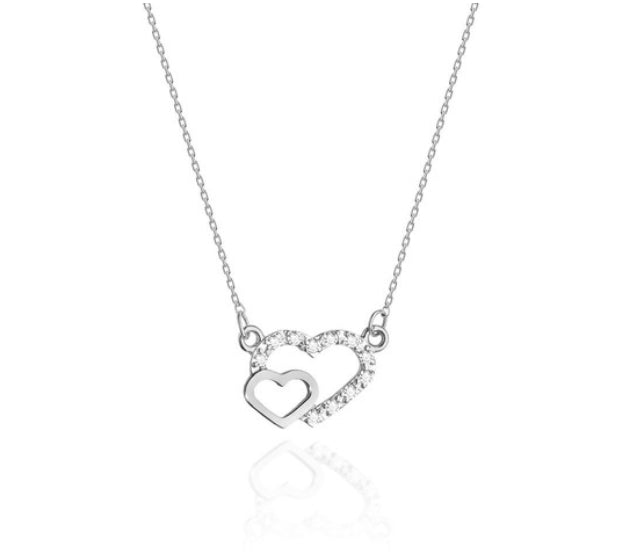 14K Gold Diamond Necklace RC0C-23 0,06CT