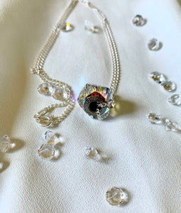 Charm Necklace with Swarovski Crystals