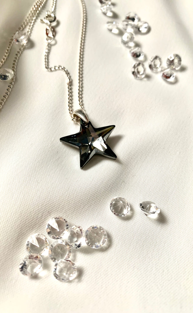 Mystic Black Star Necklace