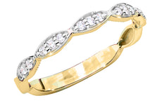 Load image into Gallery viewer, 14K Gold Diamond Ring Half Eternity  RCBC-040