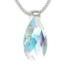 Load image into Gallery viewer, Blue Aurora Borealis Drop Pendant