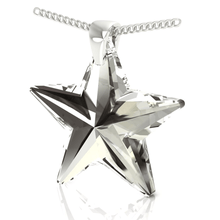 Load image into Gallery viewer, Black Star Pendant Necklace