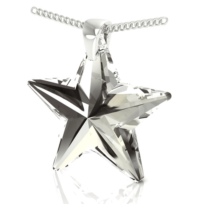 Black Star Pendant Necklace