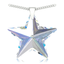 Load image into Gallery viewer, Aurora Borealis Star Pendant Necklace