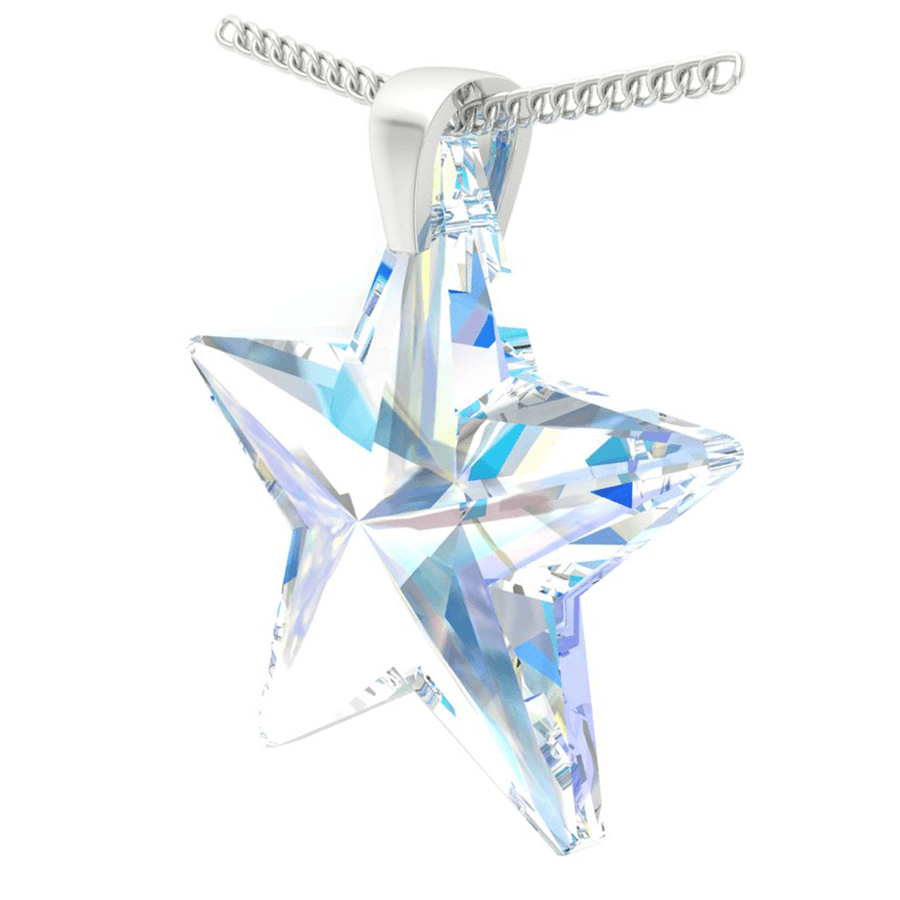 Aurora Borealis Star Pendant Necklace