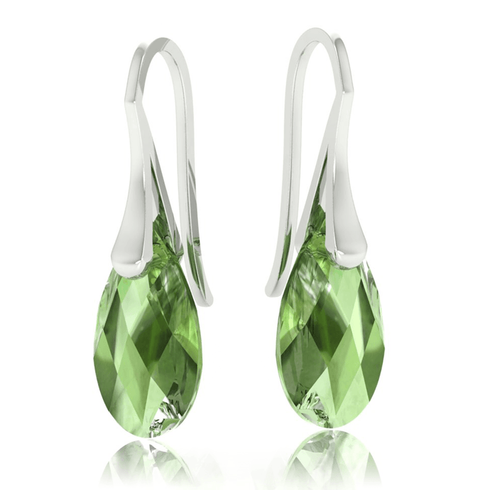 Green Pierced Drop Earrings