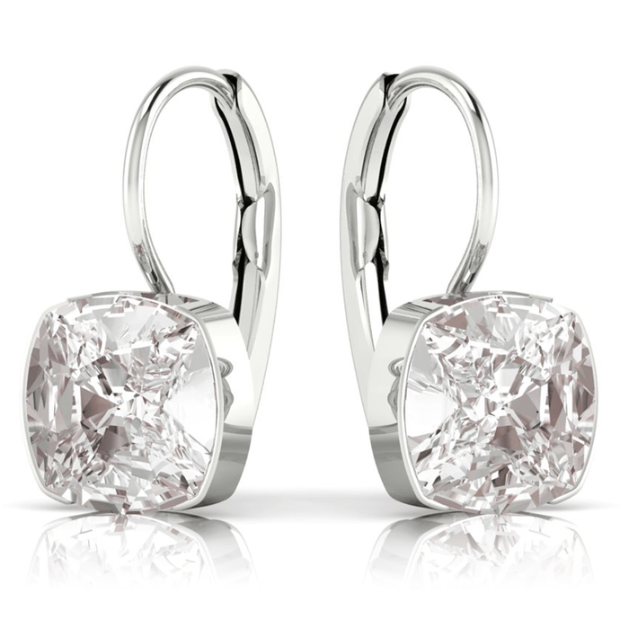 Clear Square Earrings