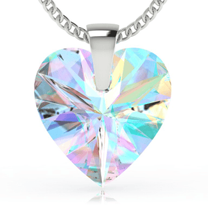 Aurora Borealis Heart Pendant Necklace