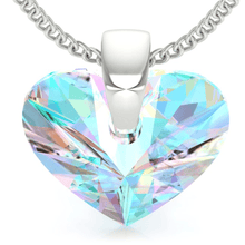 Load image into Gallery viewer, Aurora Borealis Heart Pendant Necklace
