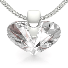 Load image into Gallery viewer, Clear Heart Pendant Necklace