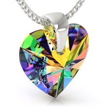 Load image into Gallery viewer, Rainbow Heart Pendant Necklace