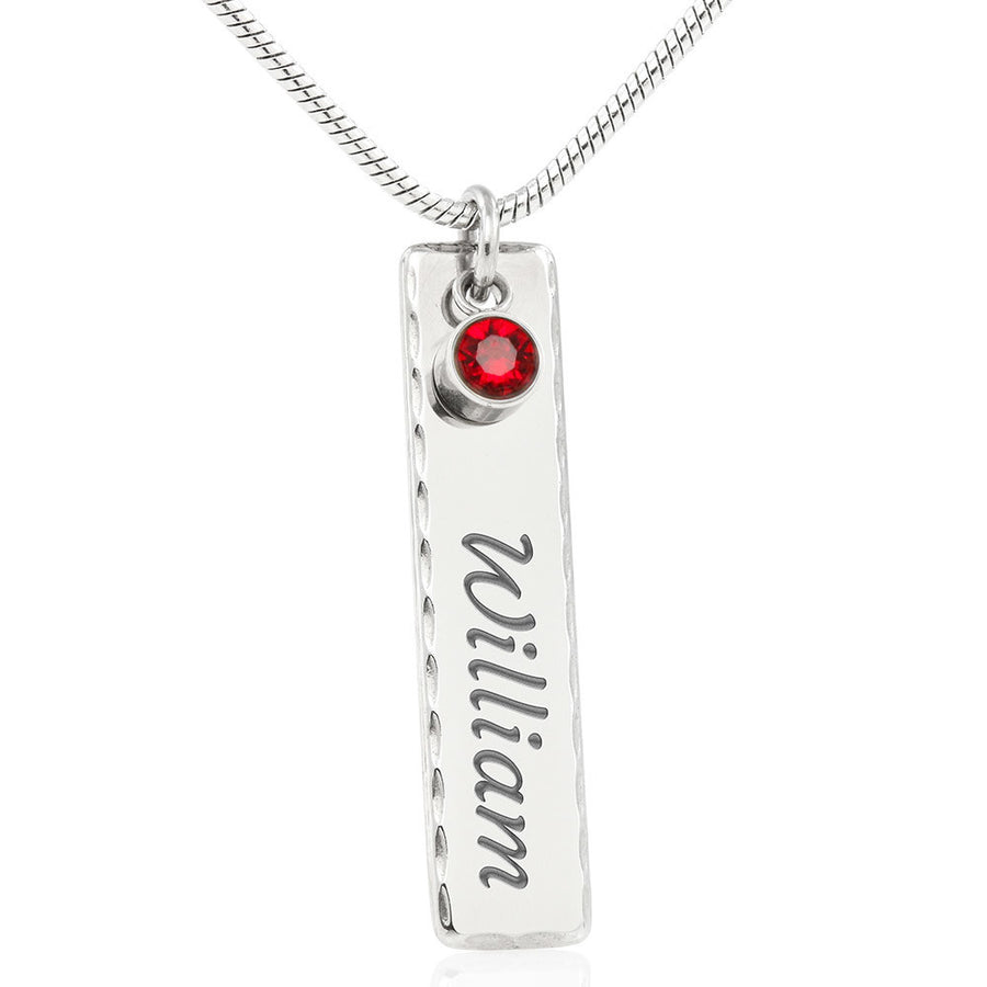 Personalised Vertical Drop Pendant Necklace for Mother