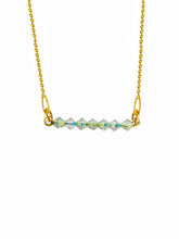 Load image into Gallery viewer, Beaded Aurora Borealis 24K Yellow Gold Plated Sterling Silver 925 Necklace with Swarovski Crystals