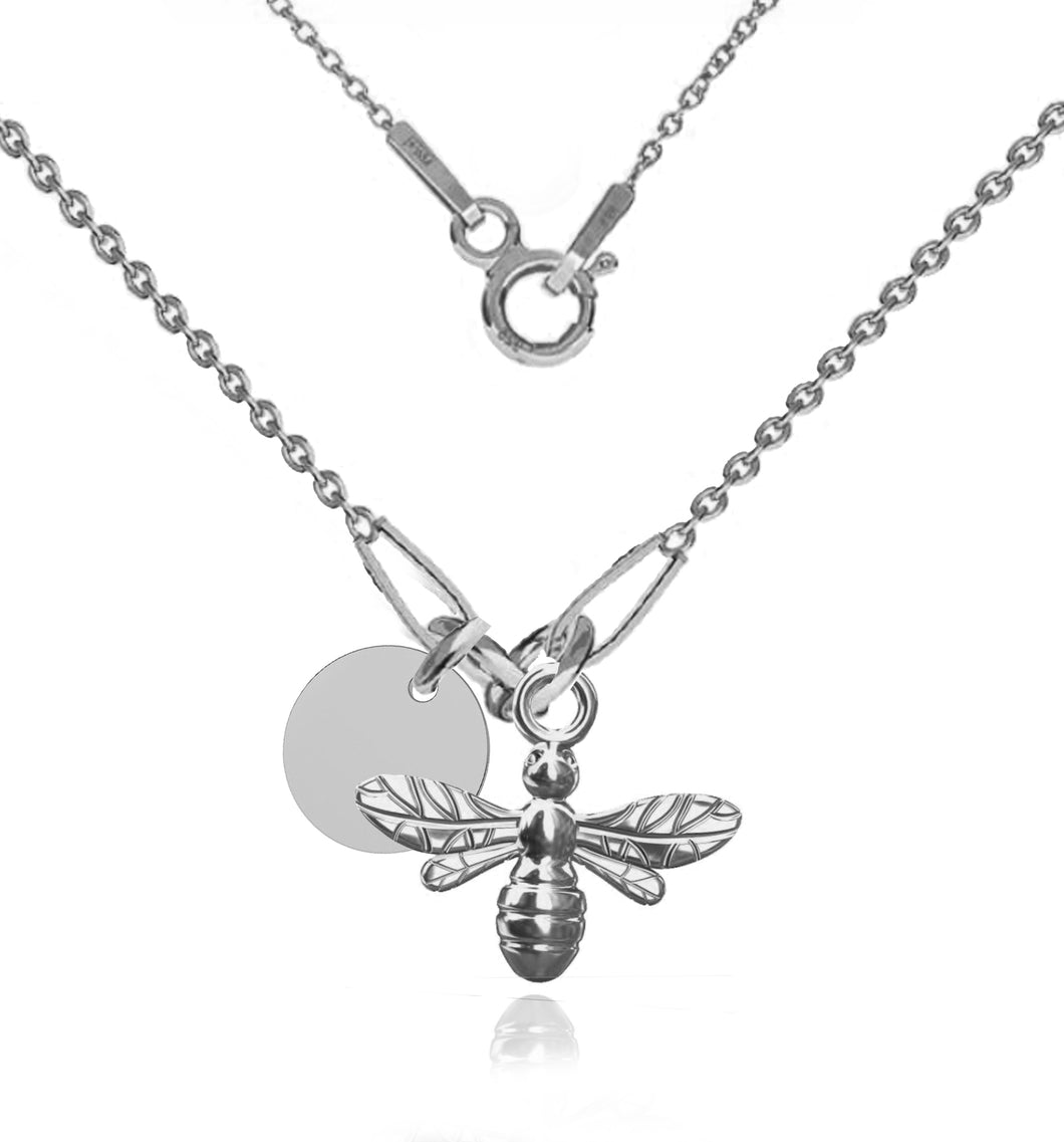 Sterling Silver Customized Bumble Bee Necklace