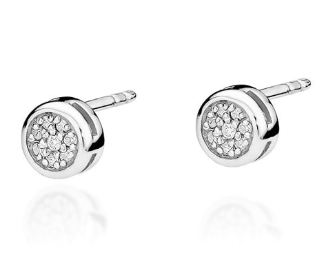 Copy of 14K Gold Diamond Round Earrings RCK-41 0,09CT