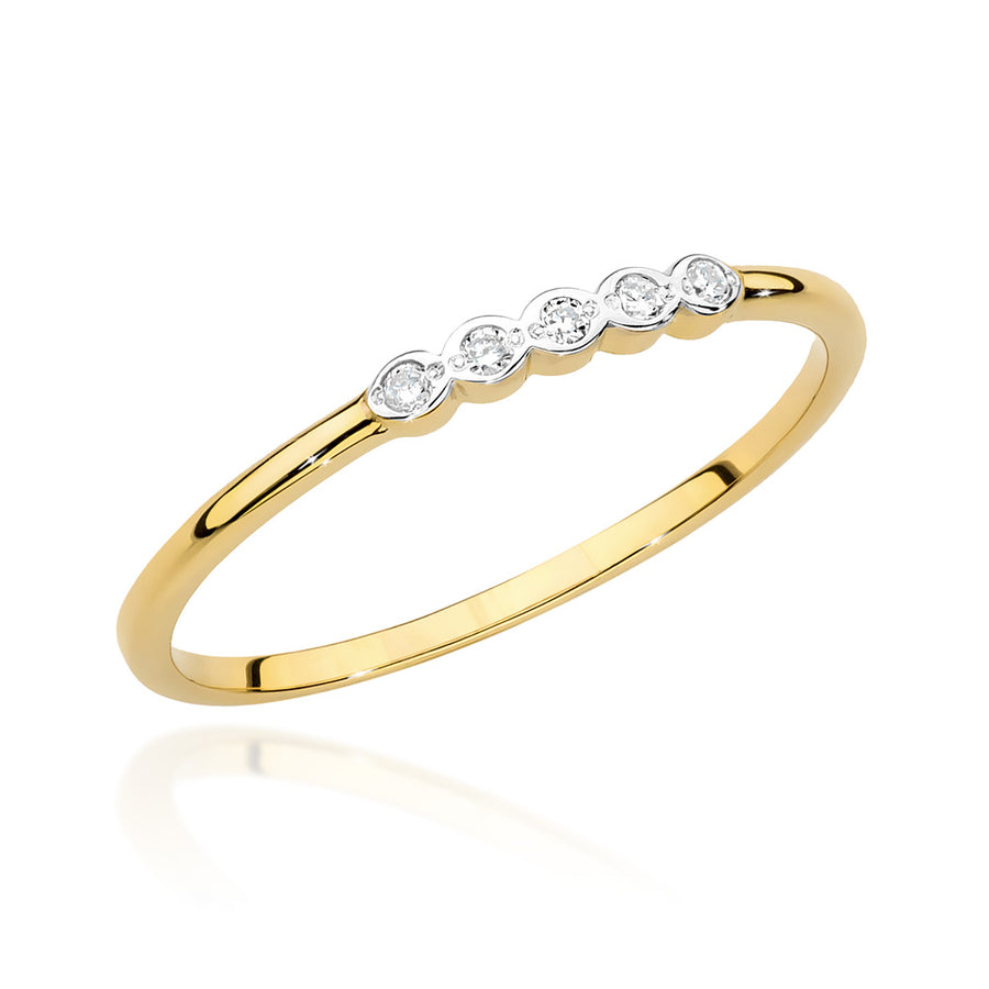14K Gold Diamond Ring Half Eternity RCBC-038
