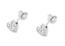 Load image into Gallery viewer, 14K Gold Diamond Mini Heart Earrings RCK-21 0,17CT