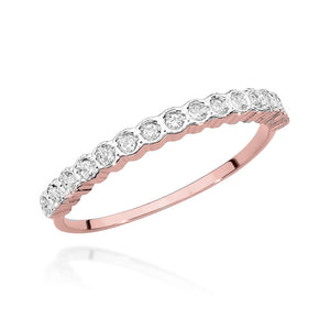 14K Gold Diamond Ring Half Eternity  RCBC-034