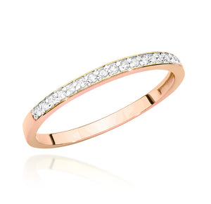 14K Gold Diamond Ring Half Eternity  RCBC-005 0,09CT