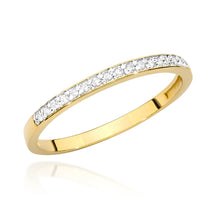 Load image into Gallery viewer, 14K Gold Diamond Ring Half Eternity  RCBC-005 0,09CT