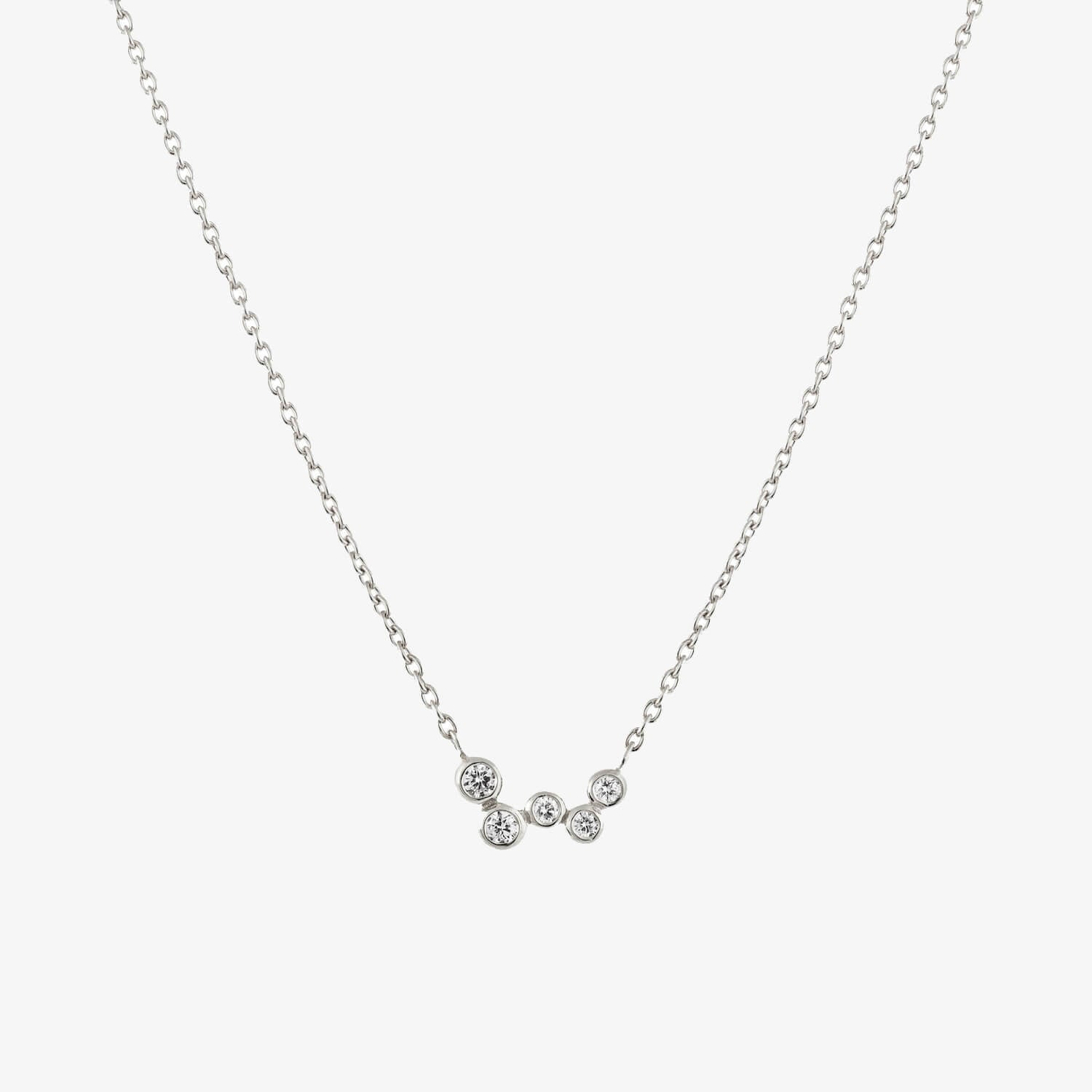 Celeste Diamond Necklace Silver