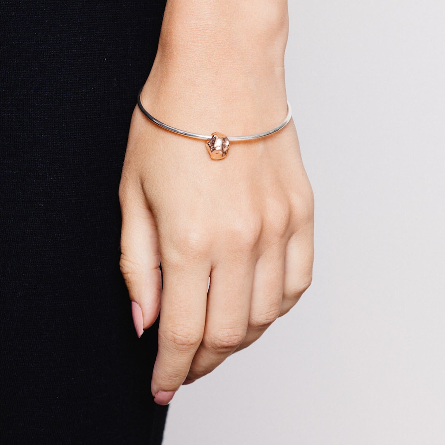 Meteorite Bangle Rose Gold