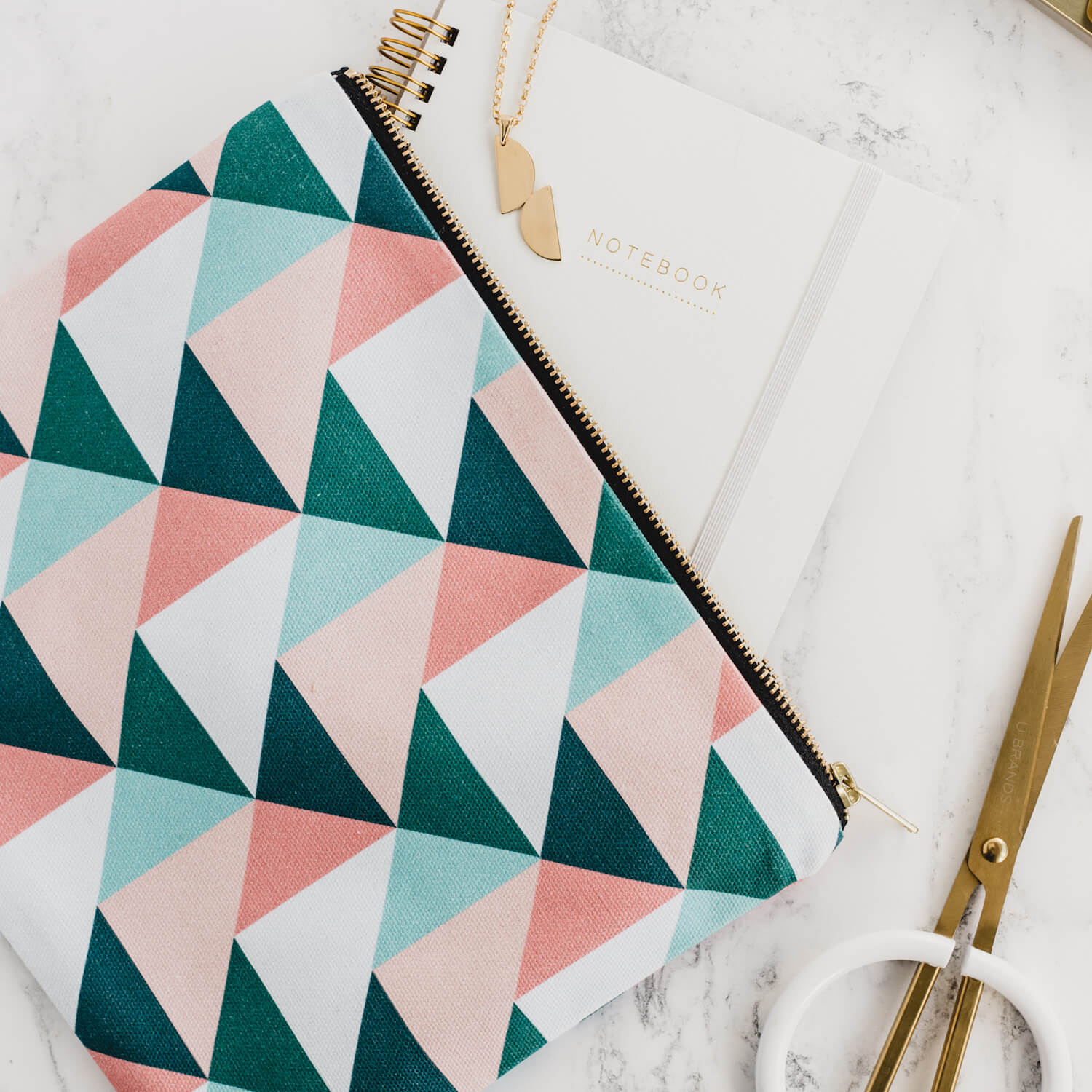 Union Triangles Pouch