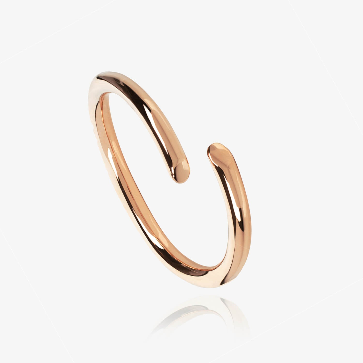 Chamfered Ring Rose Gold