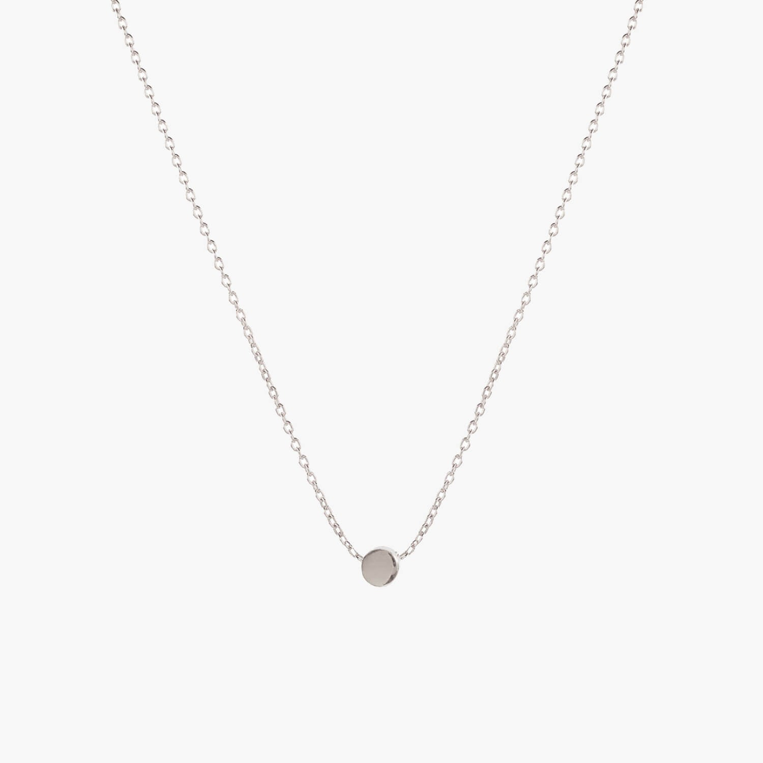 Dot Necklace Silver