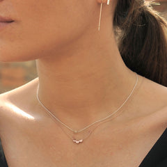 Triple Dot Necklace Rose Gold